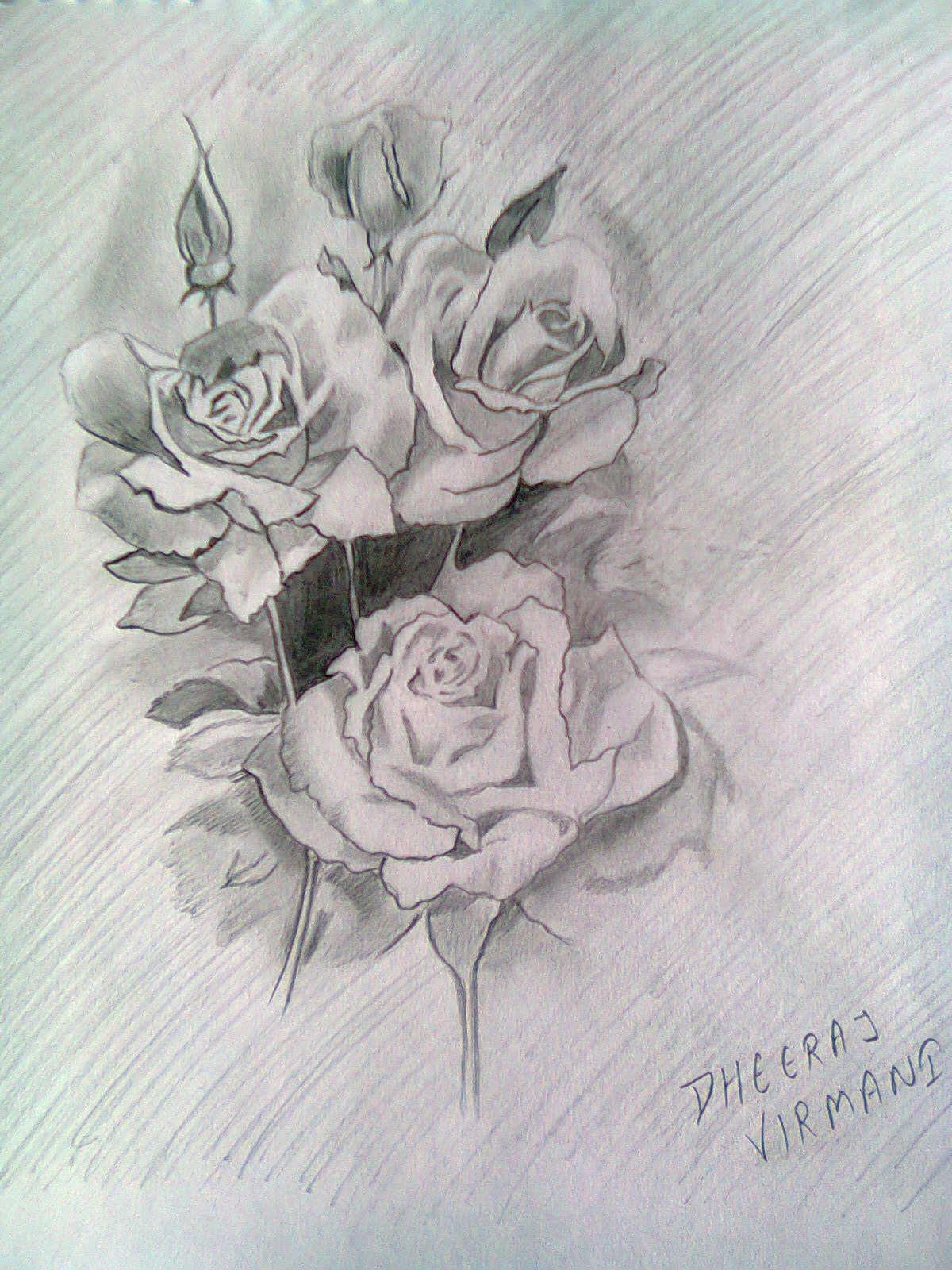 Kumpulan Lukisan Bunga Mawar 3d