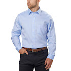 Kirkland Signature Men's Tailored Fit Dress Shirt-Blue, 18 - 34/35