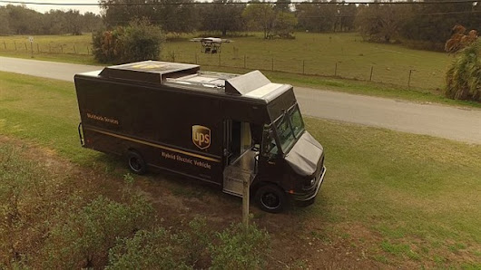 UPS Tests Drone Launched From Atop Truck - Top News - Operations - Top News - Work Truck