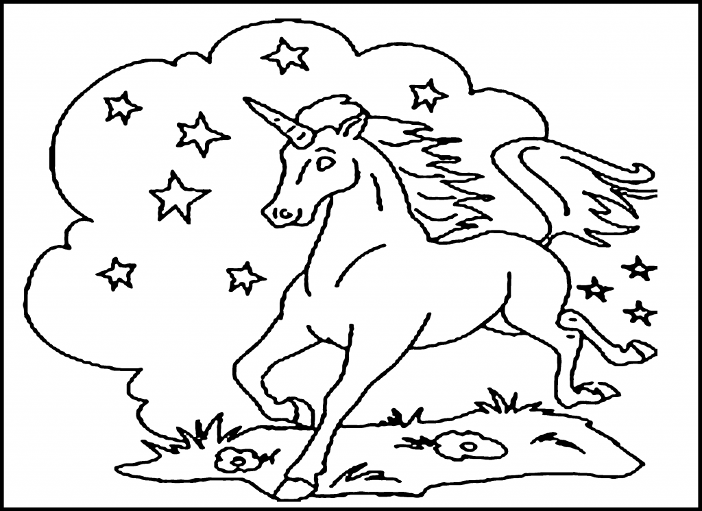 Free Printable Unicorn Coloring Pages For Kids - Coloring Pages