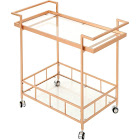 Noble House - Masonville Iron and Glass Bar Cart - Rose Gold