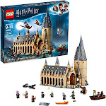LEGO Harry Potter Hogwarts Great Hall 75954 Building Kit and Magic Castle Toy, Fantasy Creatures, Hermione Granger, Draco Malfoy and Hagrid (878 Piece