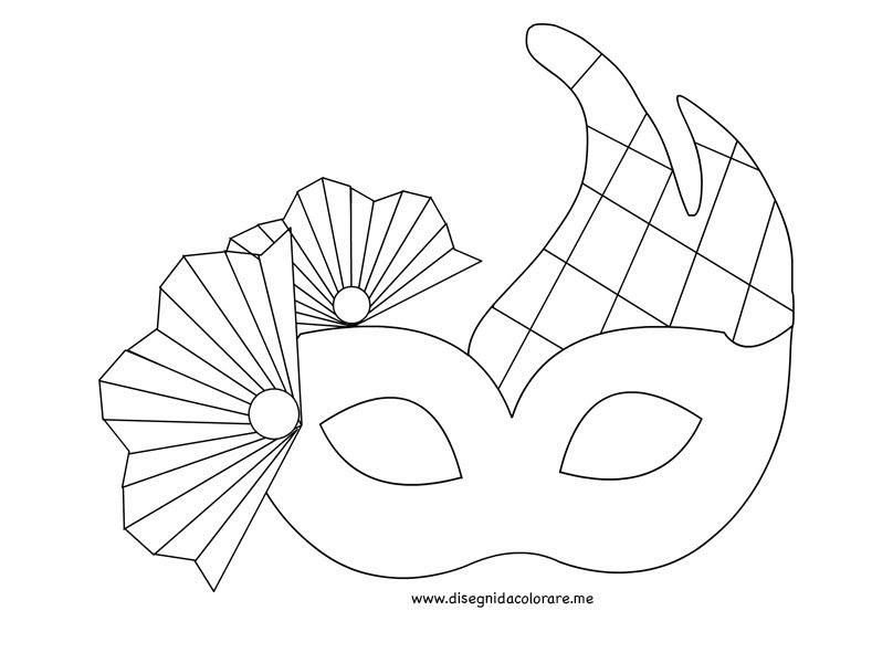 Maschera Veneziana Da Colorare