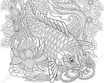 Fish Adult Coloring Pages at GetDrawings | Free download