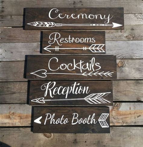 Five Wedding directional signs wedding by