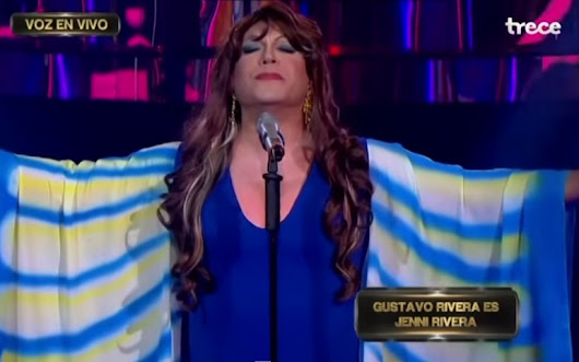 Watch Gustavo Rivera Dress And Sing Like Jenni Rivera!