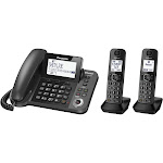 Panasonic KX-TGF382M Expandable Cordless Phone with 2 Handsets