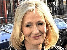 JK Rowling arriving on Monday