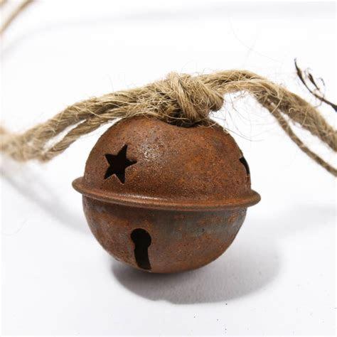 Rusty Tin Sleigh Bell Garland   Christmas Garlands