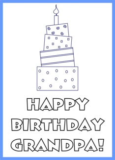 Free printable birthday cards to color for grandpa
