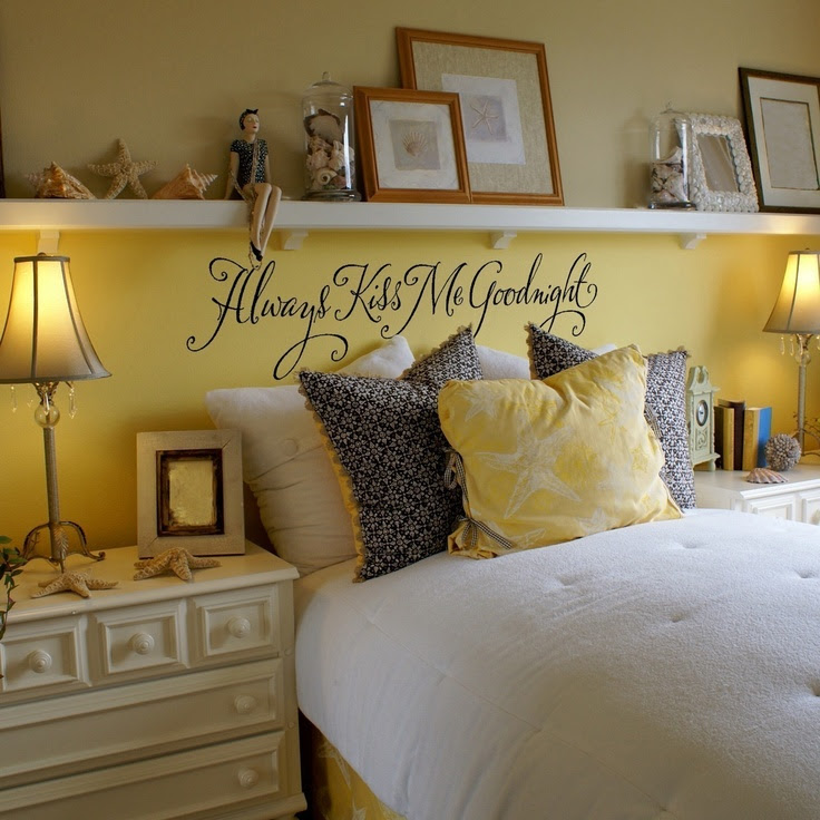 no headboard...... LOVE this idea!