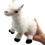 Levenkeness Llama Stuffed Animal, 7.8 inch Small Soft White Alpaca Lama Plush Toy for Baby