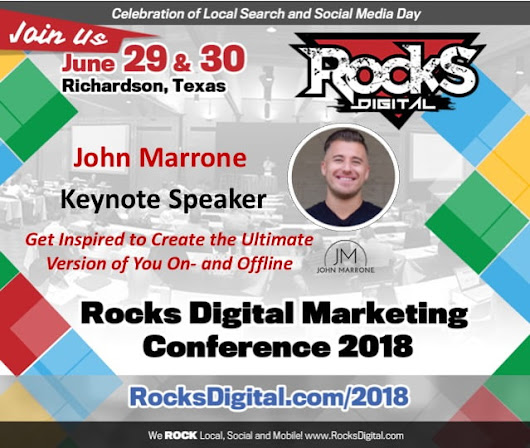 John Marrone, the Ultimate 1on1 Coach, to Keynote at Rocks Digital 2018