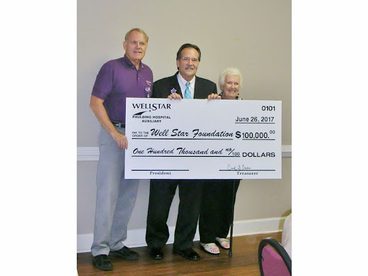 WellStar Paulding Volunteers Donate $100,000 For Healthcare