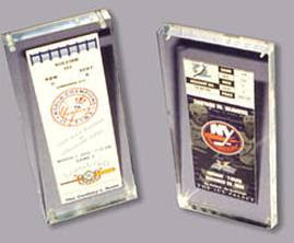 Acrylic Sports Ticket Holder Lucite Ticket Entrapments Acrylic