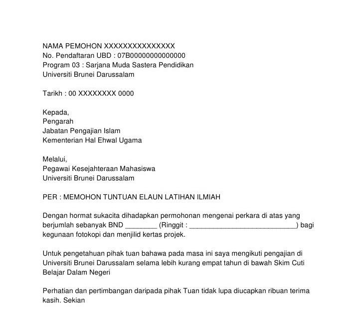 Contoh Surat Rasmi Brunei Resepi Book P