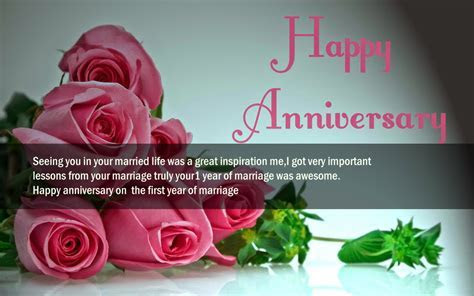1st Wedding Anniversary Wishes For Husband Wife