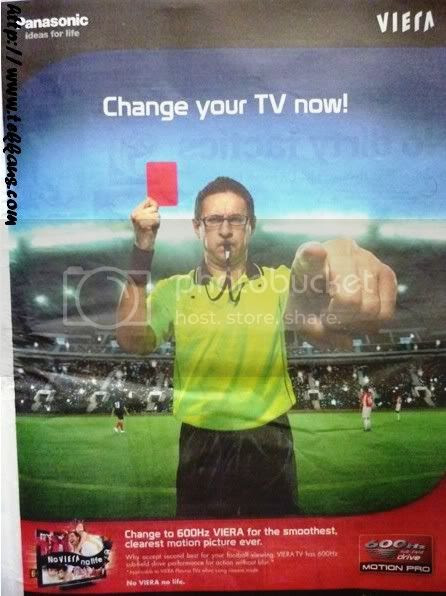 World Cup fever, change your TV