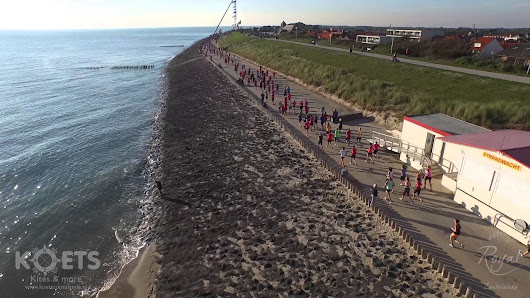 De LadiesRun 2015 van boven in Zoutelande - VIDEO