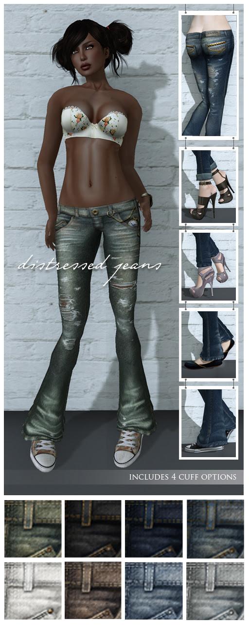 {Zaara} Denim : Distressed jeans details