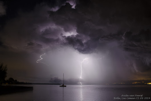 Boat and lightning