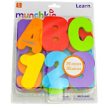 Munchkin Learn Bath Letters & Numbers, Primary, 36 Ct