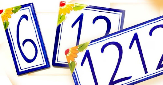 Individual and multi house number plaque Choose from 3 sizes