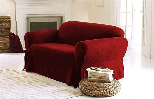 Sofa Couch Cover Slipcover 3 Pc Set Sofa Loveseat