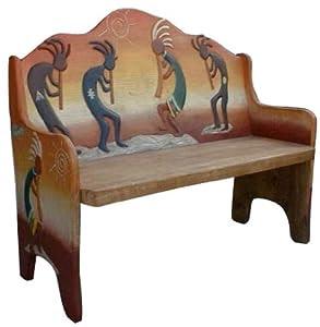Amazon.com : Southwest Design Benches - Kokopelli Inspired Wood ...
