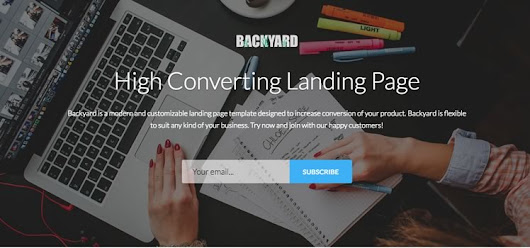 Backyard - High Converting Free Bootstrap Landing Page Template - Bootstrap Themes