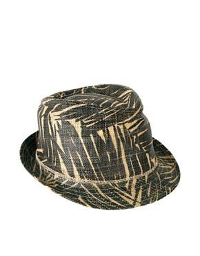 Image 2 ofEcho Palm Leaf Printed Fedora Hat