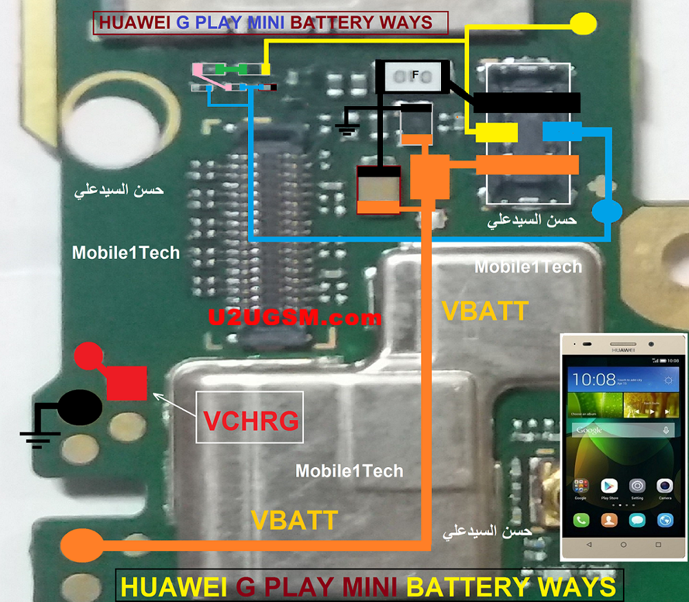 Huawei G Play Mini Battery Connector Terminal Jumper Ways