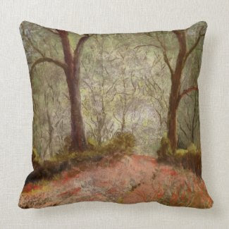 Forest path mojo custom pillow