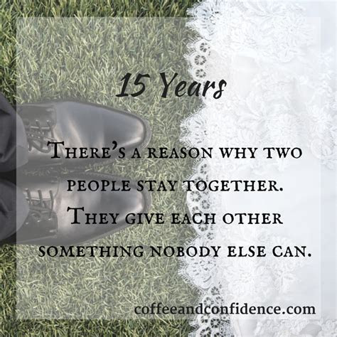 15 Years ? Words of Wisdom ? Coffee and Confidence