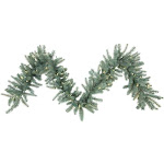 Vickerman A164818LED Colorado Blue Garland with Warm White LED Lights 9 ft. x 18 in.