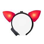 Light Up Red Cat Ears Headband