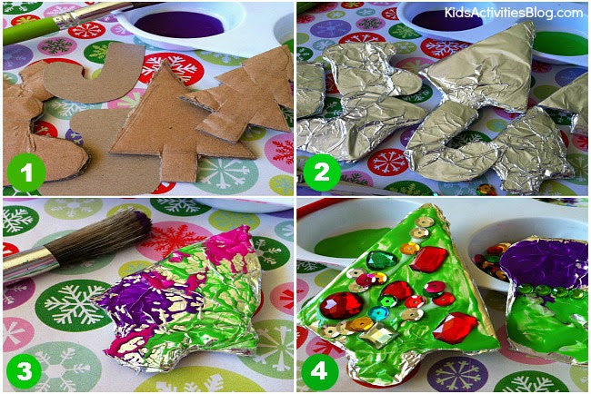 Christmas activity: {Tin Foil} DIY Ornaments - Kids Activities Blog
