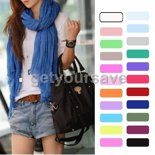 Fashion Scarf $2.99 shipped - 20 colors available!