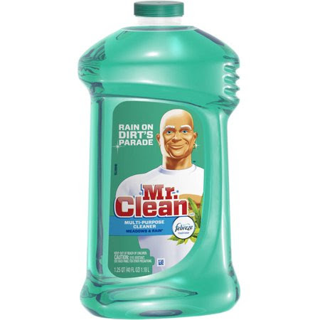 Mr. Clean Multi-Surfaces Liquid Cleaner With Febreze Freshness Meadows And Rain Scent, 40 fl oz