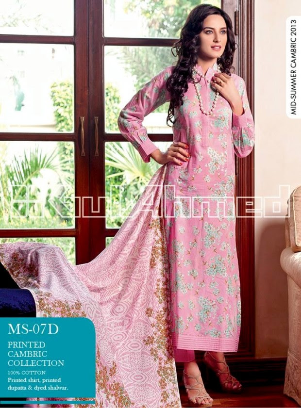 Mid-Summer-Cambric-Collection-2013-Gul-Ahmed-Printed-Embroidered-Fashionable-Dress-for-Girls-Women-14