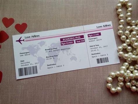 Destination Wedding Escort Card. Boarding Pass. Travel