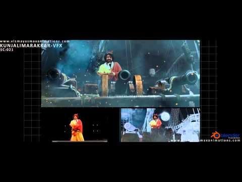 VFX Making of Kunjali Marakkar