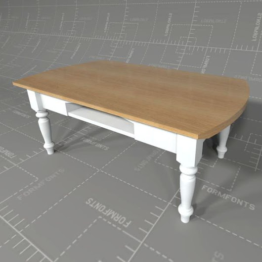 Country Style Coffee Table 3D Model - FormFonts 3D Models & Textures