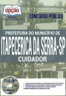 apostila CUIDADOR Prefeitura Itapecerica da Serra - SP 2016