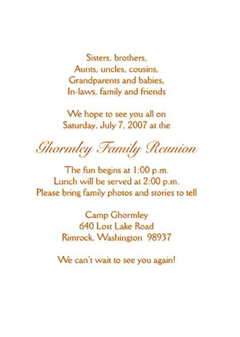 Family Reunion Invitation   Style fr s2b