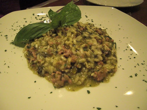 Italian sausage and friarelli risotto