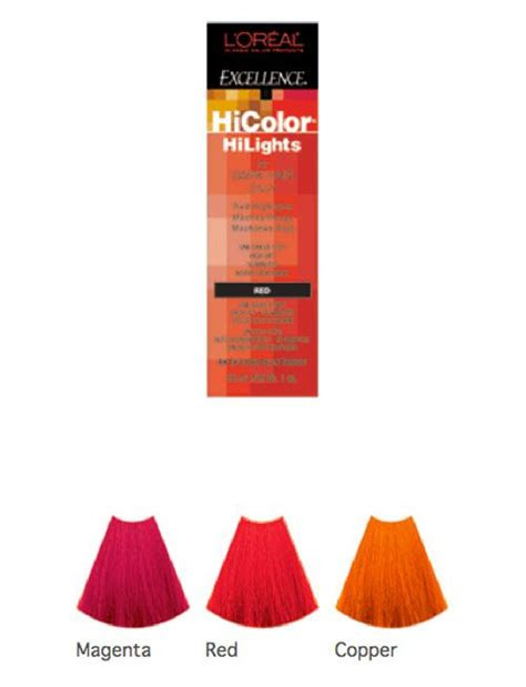 hair dye loreal excellence hicolor highlights shade chart permanent creme highlighting