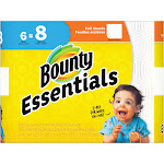 Bounty Essentials Full Sheet White Paper Towels - 6 Big Rolls