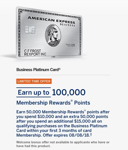 Better Than Amex Business Platinum 100k Bonus? Big Spender Offer - The Reward Boss