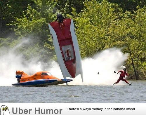 After Flipping His New Speed Boat Jesus Quickly Fled The Scene